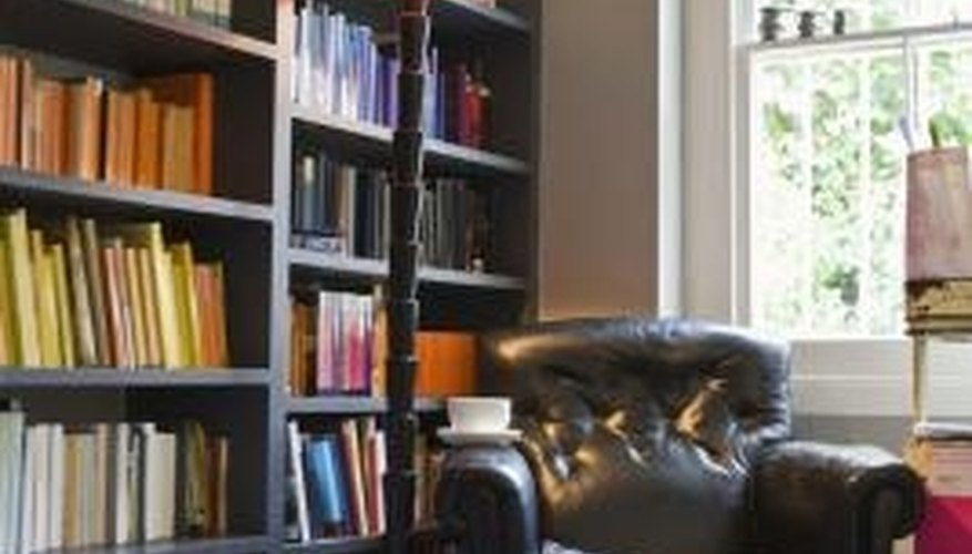 Bookcases make efficient use of the vertical space in mobile homes. How to Organize a Mobile Home   HomeSteady