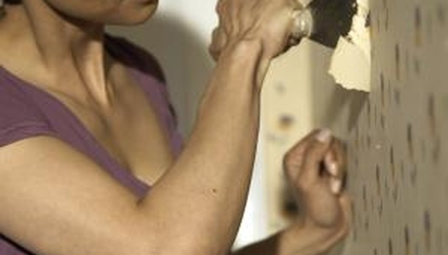 Stripping wallpaper can be a time-consuming task.