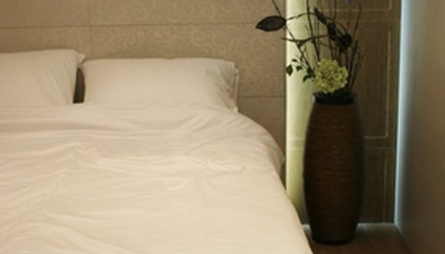 Air dry your white sheets and bedding so that stains do not set in the dryer.