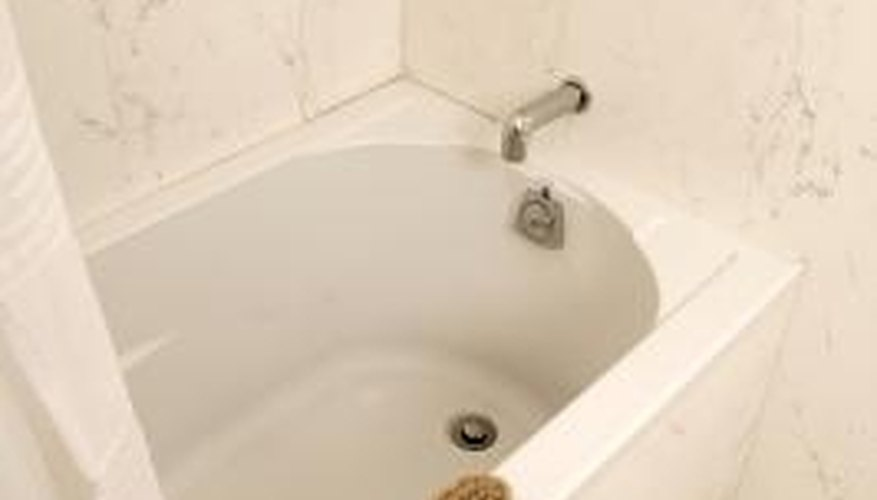 Use caulk to seal the floor around your bathtub.