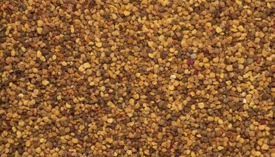 Mustard seeds are ground, then mixed with a liquid to form mustard.