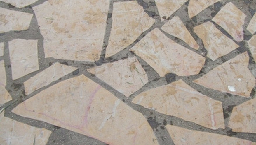 Use split pavers to fill in patio gaps or to create an individual design.