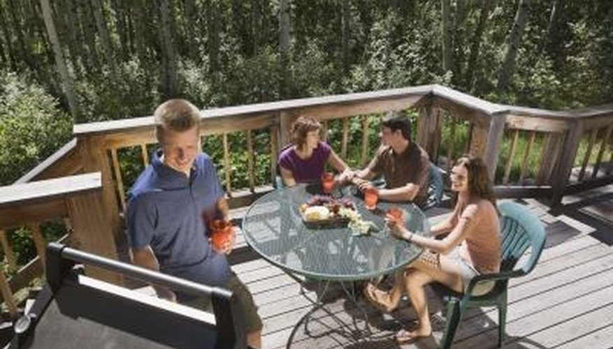Use an oxygen-based bleach to clean away stains caused by BBQ grease.