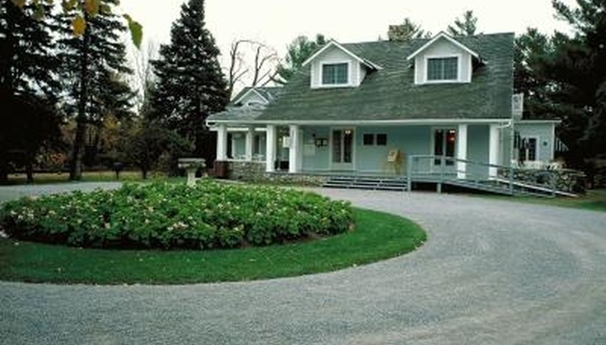 A circular driveway is very convenient -- and it can be very elegant.