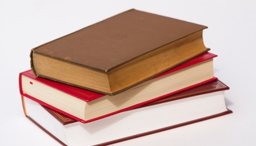 Proper storage of your hardcover books will prolong their shelf life.