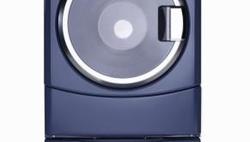 A dryer that is not level creates a banging noise.