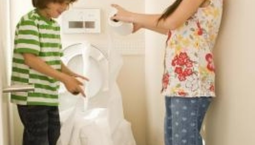 Toilets can become clogged when inappropriate things are flushed.
