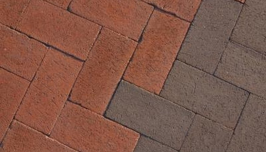 Interlocking pavers provide a stylish surface for a patio or walkway.