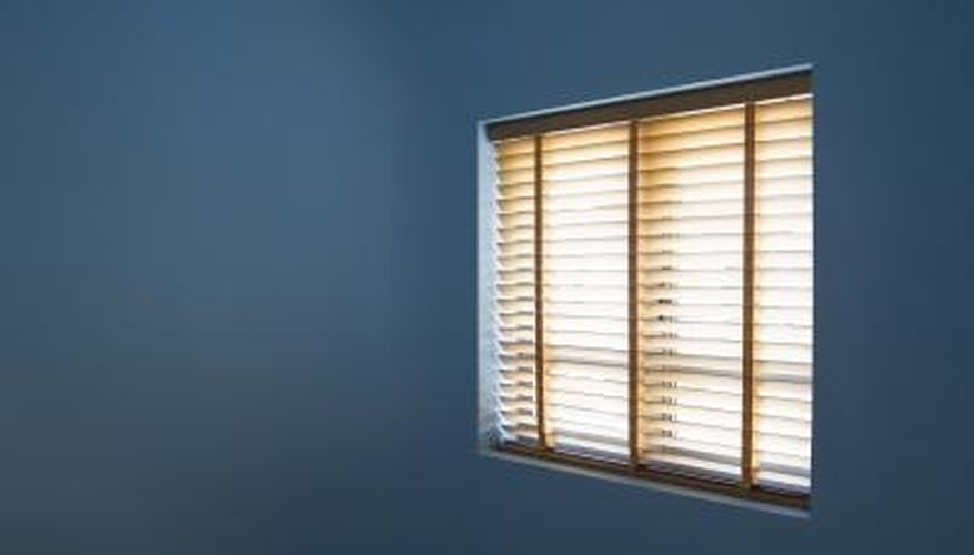 Levolor blinds provide an attractive window covering.