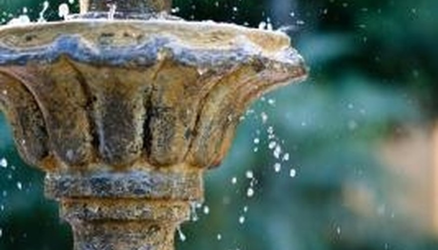 Freezing water can crack or otherwise damage decorative fountains.