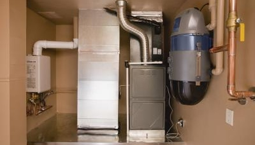 Save on heating bills by installing a furnace-mounted humidifier.