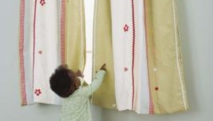Fan pleated drapes are an elegant yet casual window treatment.