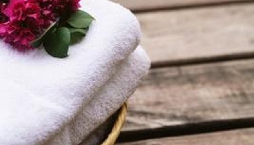 You can turn a towel into a flower by folding it a certain way.