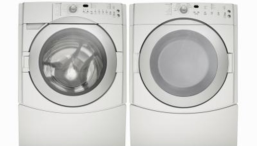 Tumble dryers come in side-by-side or stackable units.