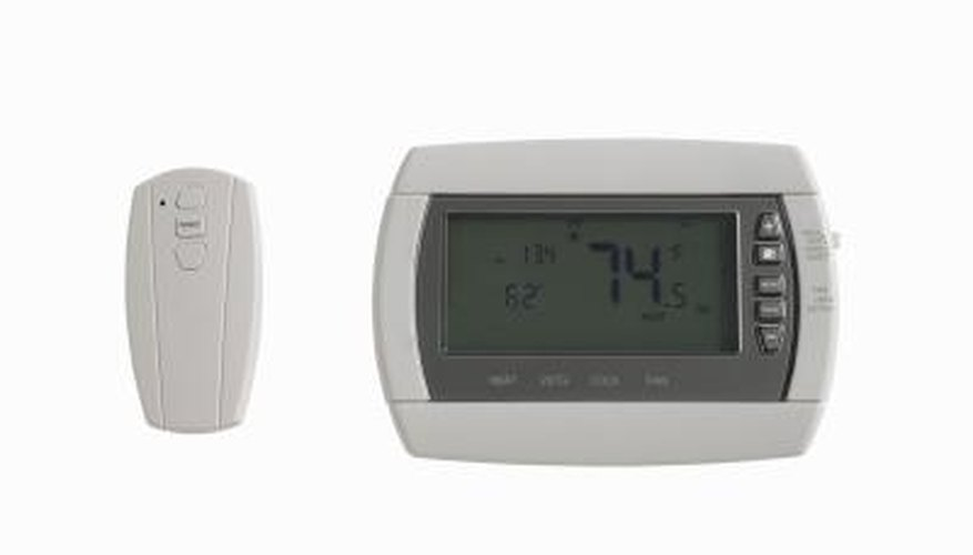 Some thermostats require a battery.