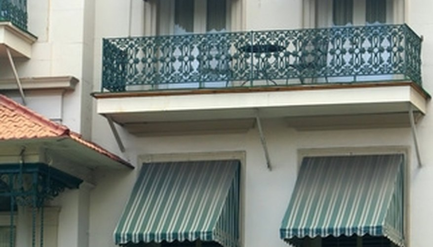 Awnings provide shade but also block the view.