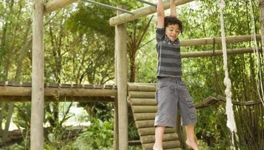 Homemade play equipment is just as fun as commercially made equipment.