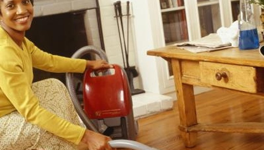 Keep your wood floor clean with regular vacuuming.