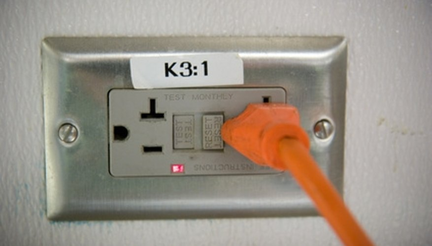 Ground Fault Circuit Interrupter outlet that is required around sinks.