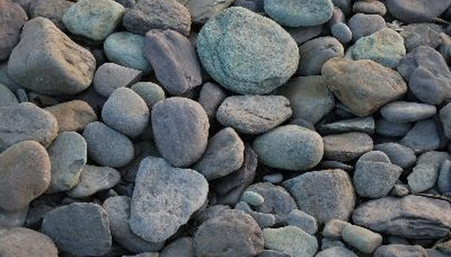 Rock gardens use plants that can handle the rocky soil.