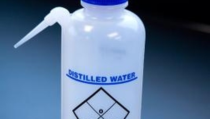 Distilled water is used in the dilution method to test extremely high levels of chlorine in pools.