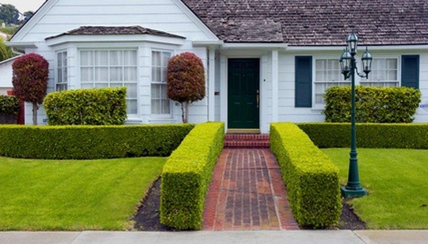 Cedar shakes and a bay window make a plain ranch house fancier.
