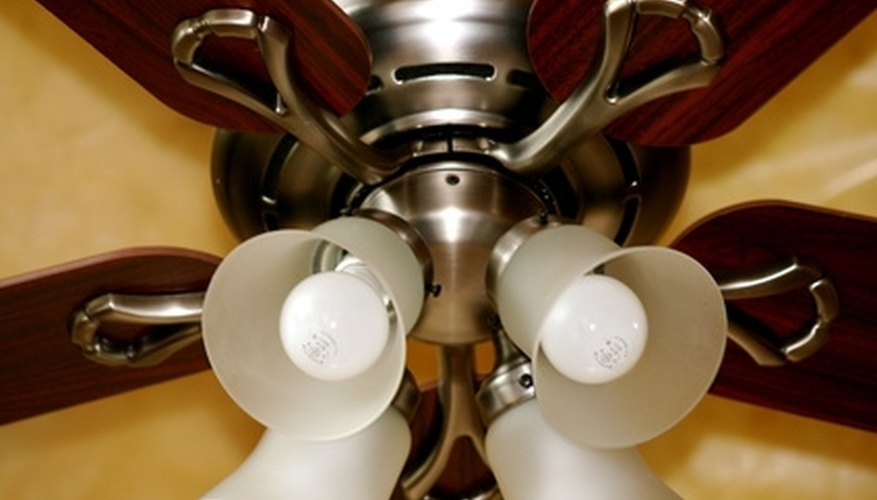 Ceiling fans help regulate the air flow in a room