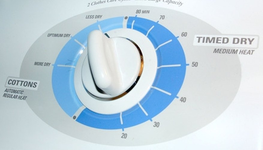 To test if your dryer has a heating problem, set it to a heated-drying cycle and let it run.