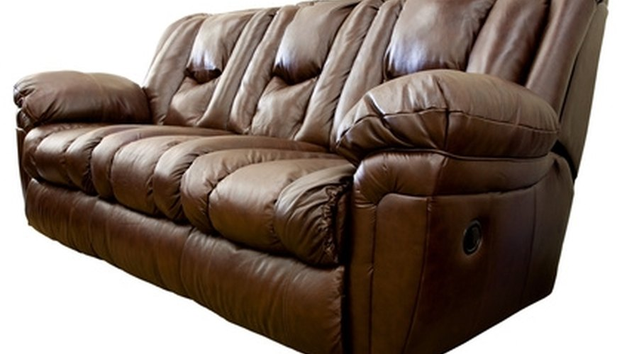 Cleaning dust from a leather sofa is typically a simple process.