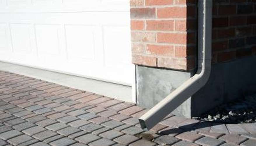 Downspouts and gutter systems can help waterproof your home.