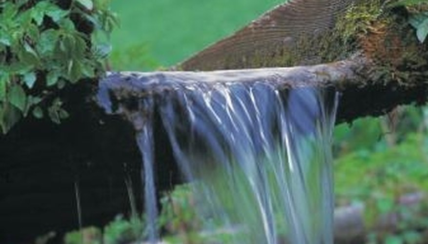 You don't need large yards to create waterfalls.