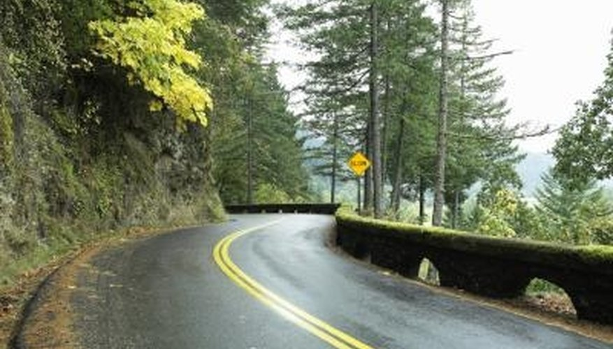 Moss on asphalt creates a slipping hazard.