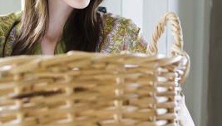 You can use a wicker basket as a hypertufa pot mold.
