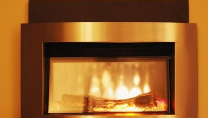 An electric fireplace in an RV can add to the illusion of being in a regular home.