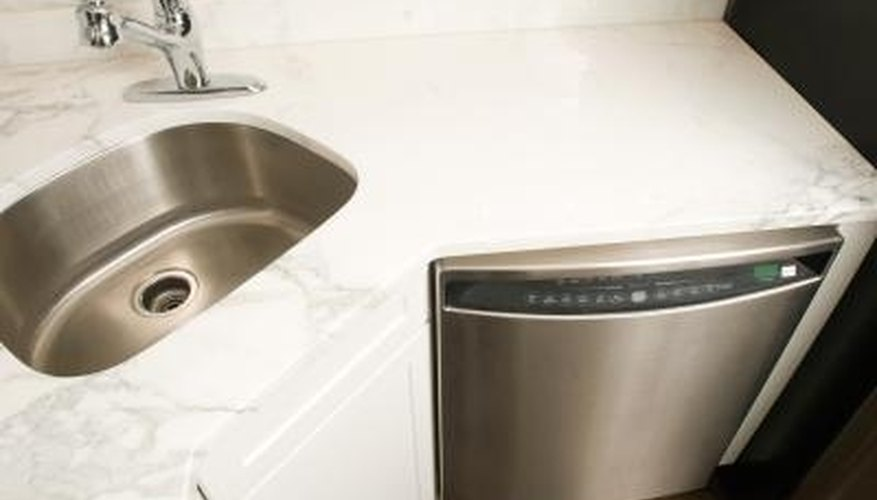 Dishwasher drain pumps can get clogged by large debris.