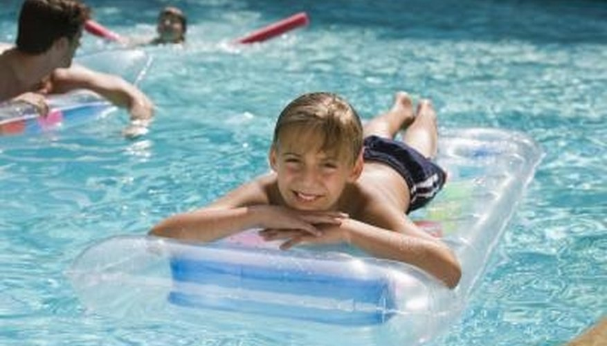 Swimming pools provide fun for all ages.