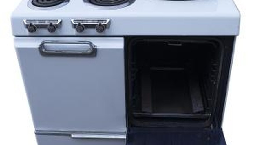 Remove the heating elements from your range before using oven cleaner.