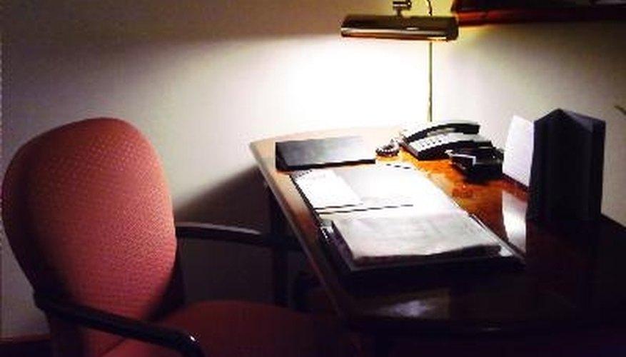 Polyurethane coating on your desk makes it shine like glass.