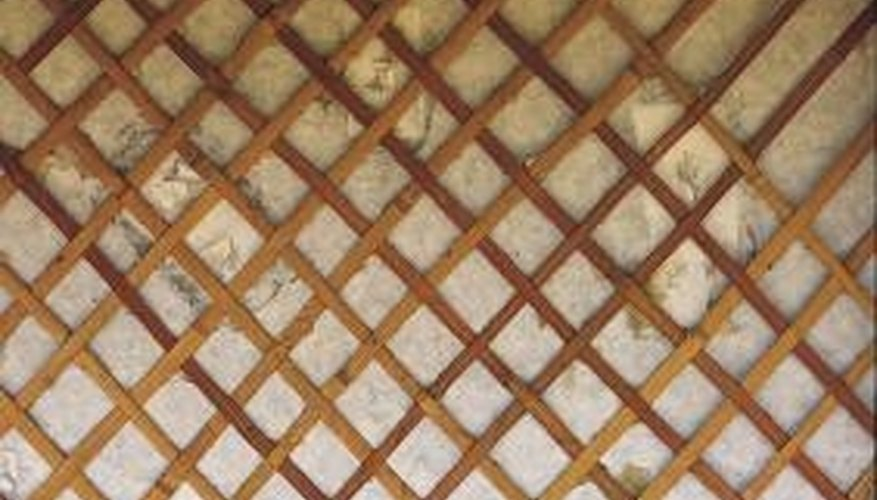 Lattice and wood outdoor privacy panels are attractive and practical.