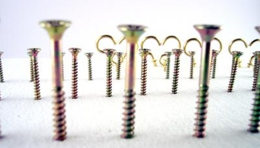 Screw sizes are given in either metric or imperial form, both of which can be converted to the other.
