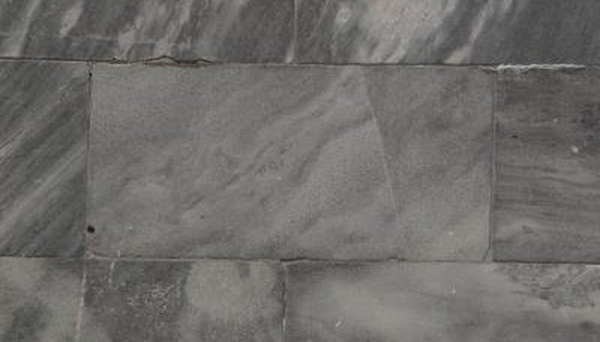 Some cobble-edged marble tiles can be up to 1/2-inch thick and need a larger trowel to compensate.
