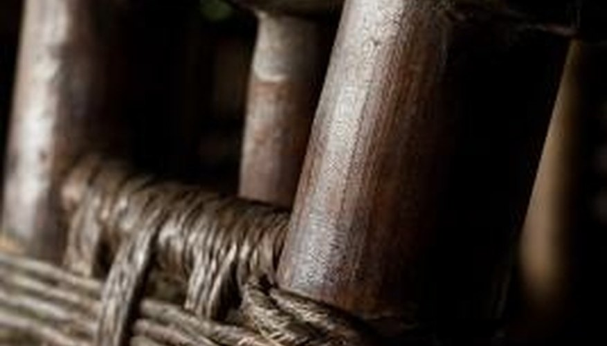 Weave a chair with cotton, nylon or leather webbing.