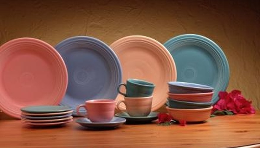 Fiesta ware colors are often mixed and matched.
