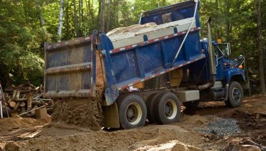 A truck can bring topsoil to your garden.