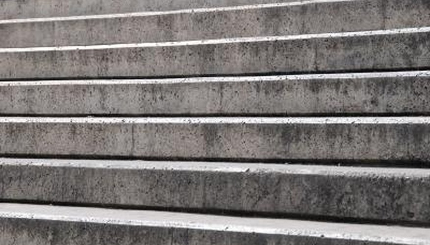 Painting concrete stairs can protect them from premature decay.
