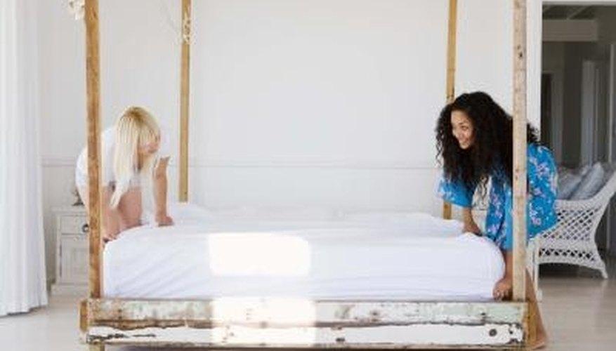 A hot water wash will kill fleas on bedding.