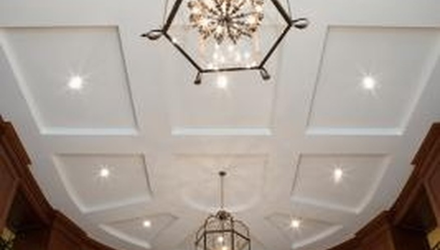 A large room may have two or more chandeliers.