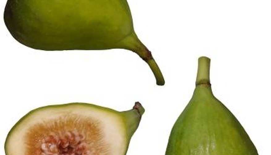 Kadota figs are yellow-green with amber flesh.