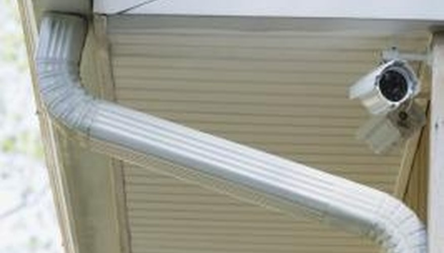 Gutter seam sealant can be used to seal the seams in a leaking gutter.