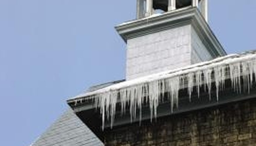 Gutters can become saggy due to the outside elements.